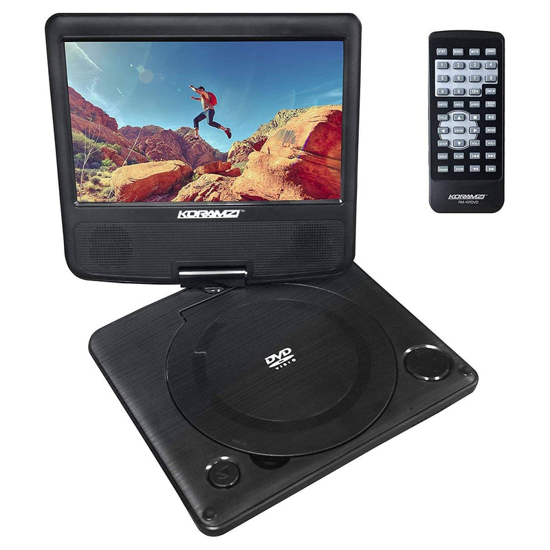 "KoramzI 7"" Portable Swivel DVD Player Gadgets & Accessories - DailySale"