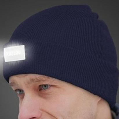 LED Headlamp Beanie for Men and Women Women's Apparel Blue - DailySale