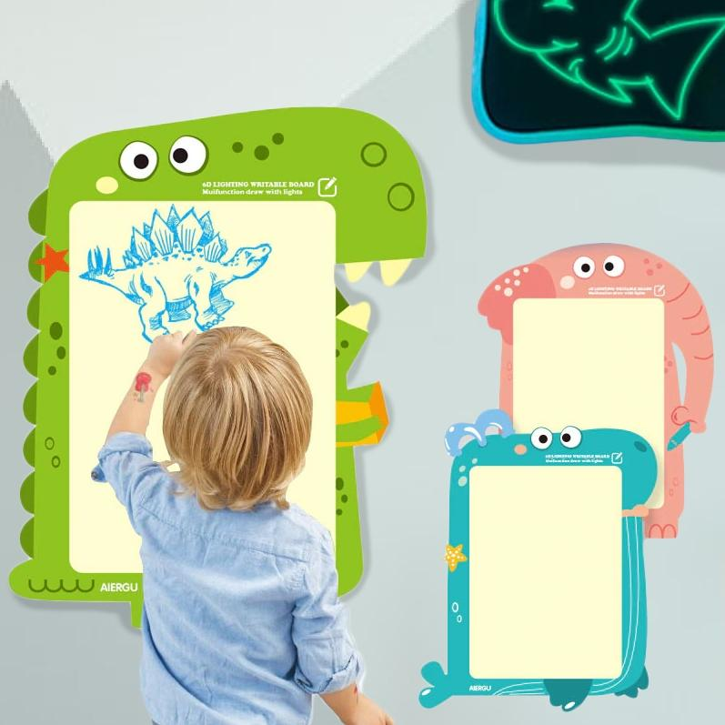 LED Luminous Drawing Board With Light-Fun Fluorescent Pen Toys & Games - DailySale