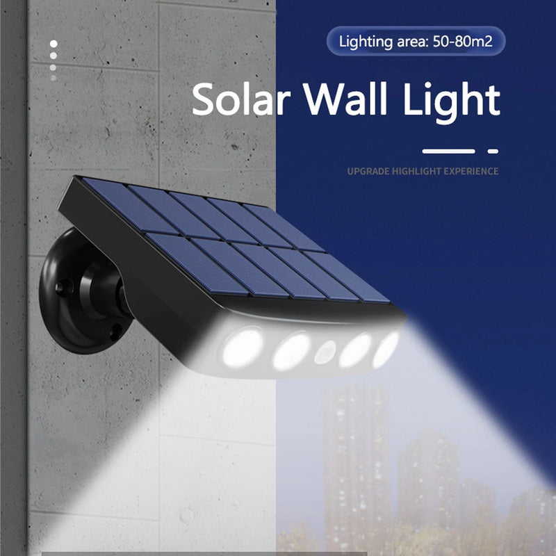 LED Solar Powered Wall Light Rotatable Waterproof Motion-Sensor Lights Outdoor Lighting - DailySale