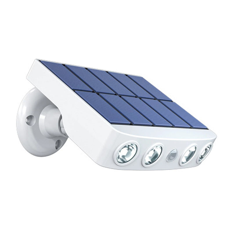 LED Solar Powered Wall Light Rotatable Waterproof Motion-Sensor Lights Outdoor Lighting White Cool White - DailySale