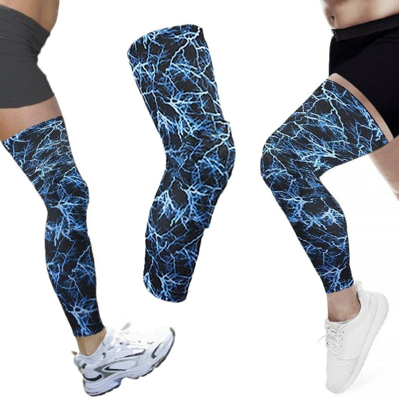Leg Compression Sleeve with Padded Knee Support - Large Wellness & Fitness - DailySale