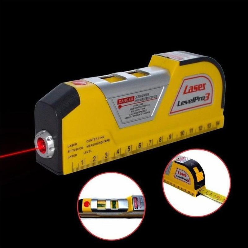 Level Measuring Horizontal Laser Line 8FT Measuring Tape Home Essentials - DailySale