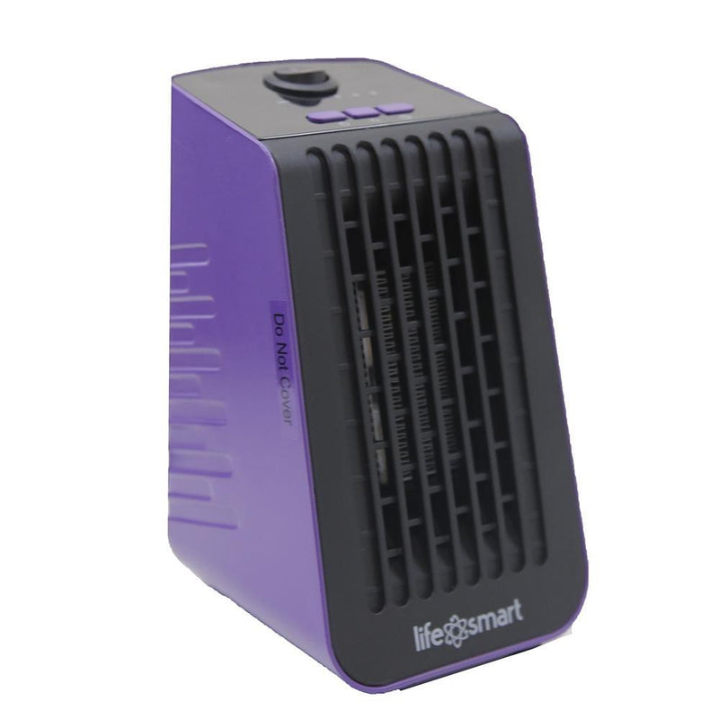 Life Smart Desktop Personal Heater & Fan - Assorted Colors Home Essentials Purple - DailySale