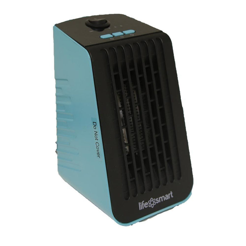 Life Smart Desktop Personal Heater & Fan - Assorted Colors Home Essentials Turquoise - DailySale
