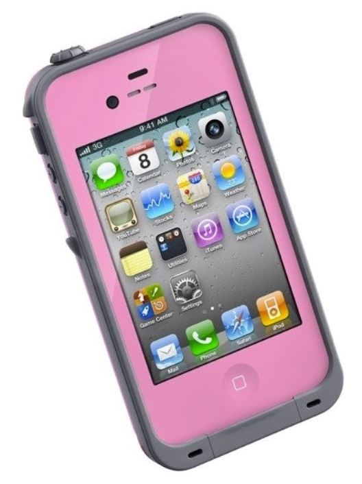 LifeProof Waterproof Pink/Gray iPhone 4 Case Phones & Accessories - DailySale