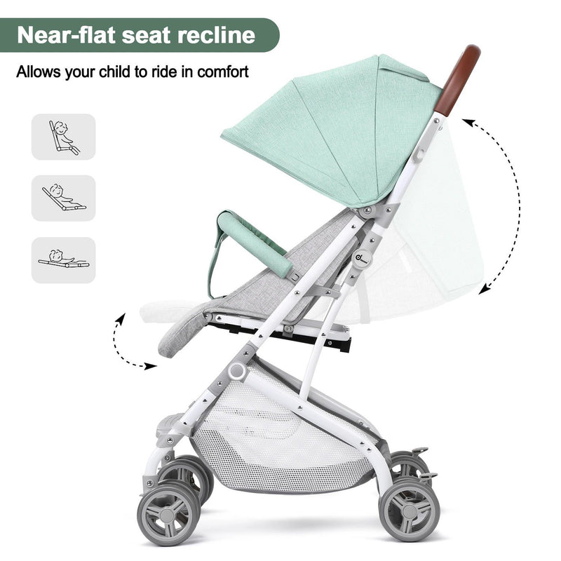 Light Blue Baby Infant Foldable Umbrella Stroller Lightweight Travel Carriage Pushchair Baby - DailySale