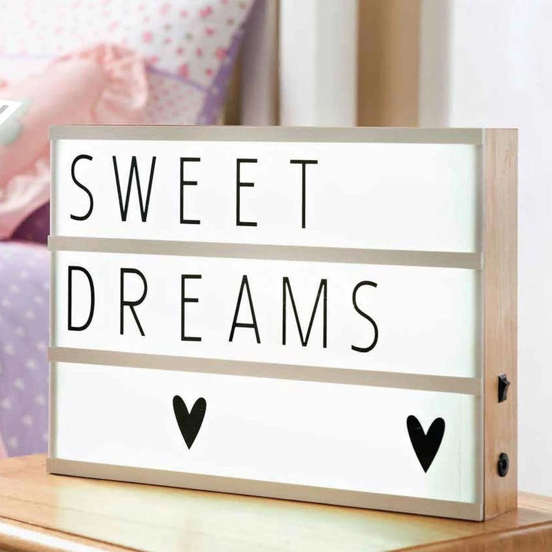 Light Box with Letters and Number Tiles Home Essentials - DailySale