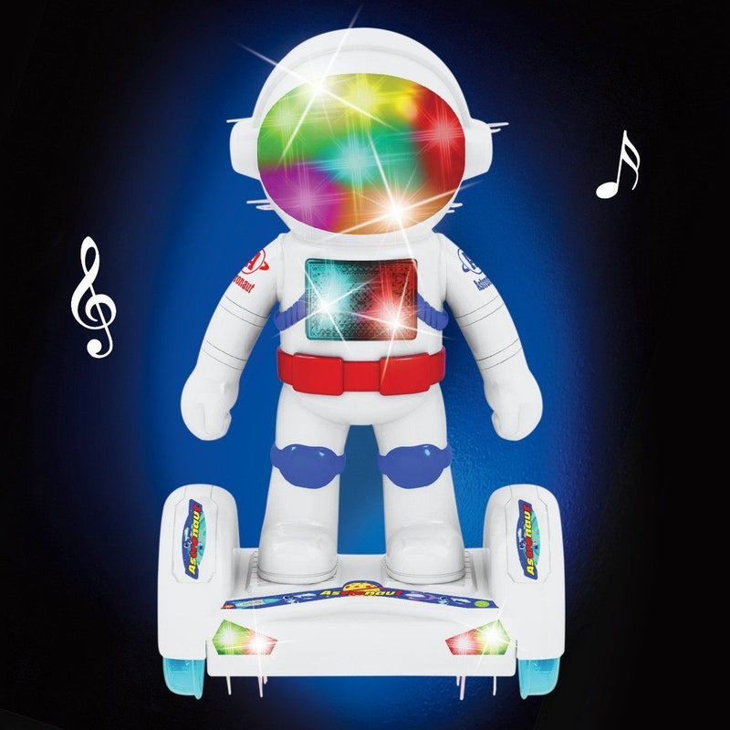 Light-Up Robot Astronaut with Hoverboard Toys & Games - DailySale
