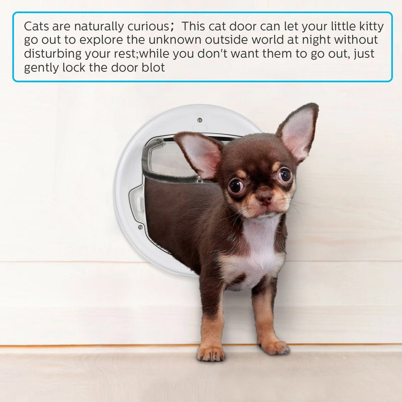 Lightweight Flap Pet Door Cats Small Dogs Anti-Insects Quiet Magnet Locking Gate Pet Supplies - DailySale