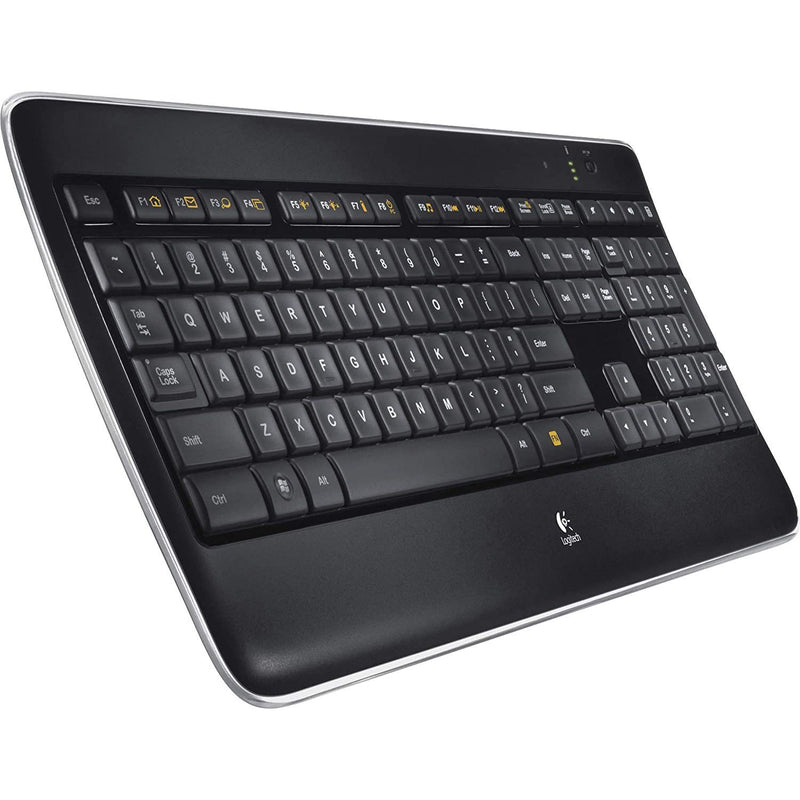 Logitech K800 Wireless Illuminated Black Keyboard Computer Accessories - DailySale