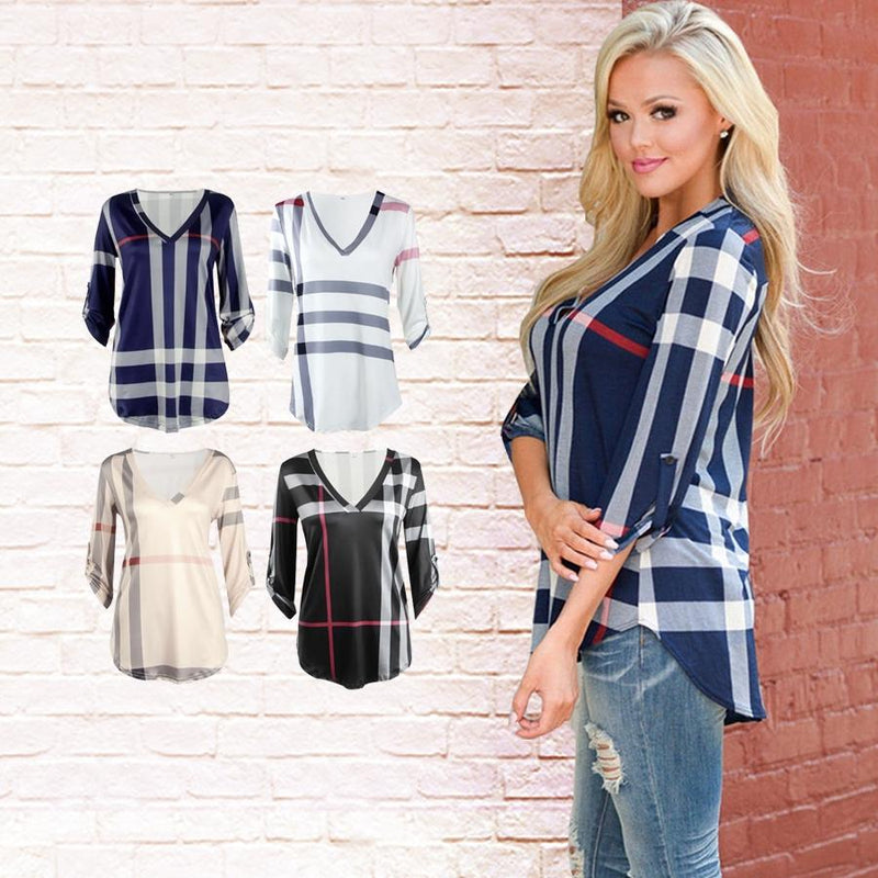 Londonite Shirt In Playful Plaids - Assorted Colors & Sizes Women's Apparel - DailySale