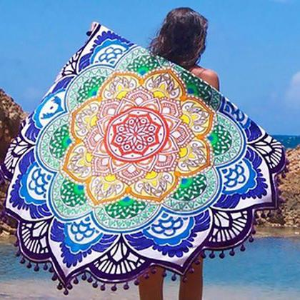 Lotus Flower Beach Throw Sports & Outdoors - DailySale