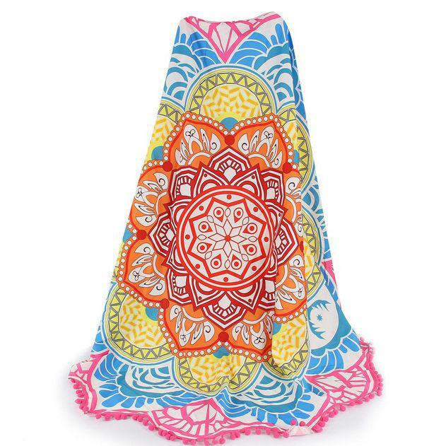 Lotus Flower Beach Throw Sports & Outdoors Pink - DailySale