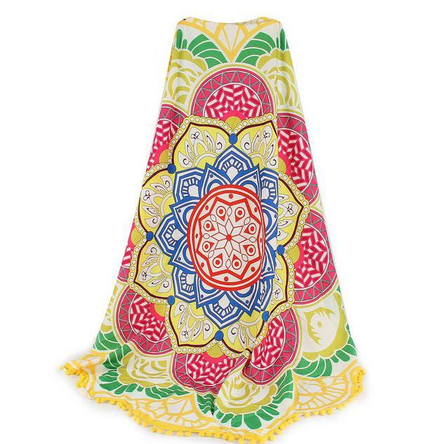 Lotus Flower Beach Throw Sports & Outdoors Yellow - DailySale