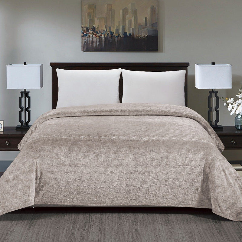 Louvre Blanket-Beige-Queen Linen & Bedding - DailySale