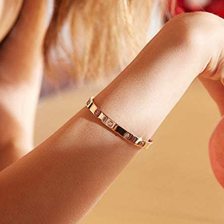 Love Friendship Bracelet Bangle with Cubic Zirconia Stones