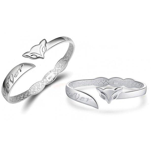 Love You Forever Cuff Bracelet in Sterling Silver Plating Bracelets - DailySale