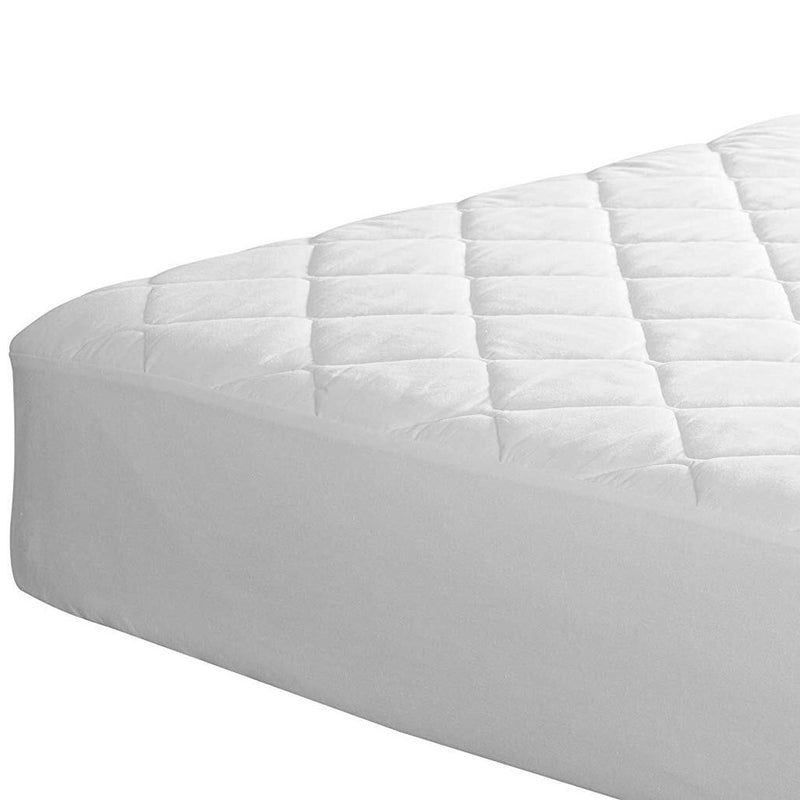 Lux Decor Collection Quilted Fitted Fully Cover Mattress Topper Linen & Bedding - DailySale
