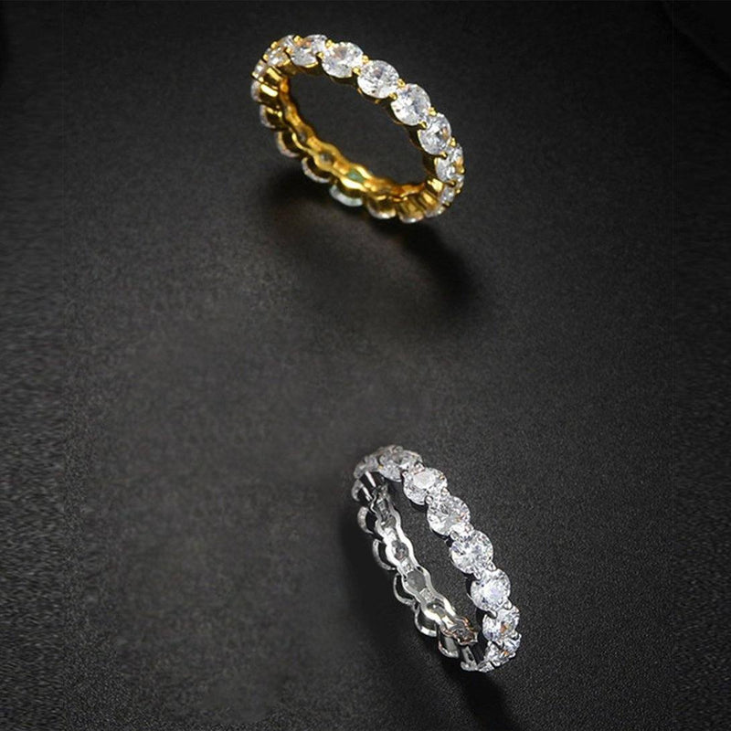 Luxury 6 CTTW Sterling Silver CZ Eternity Ring Rings - DailySale