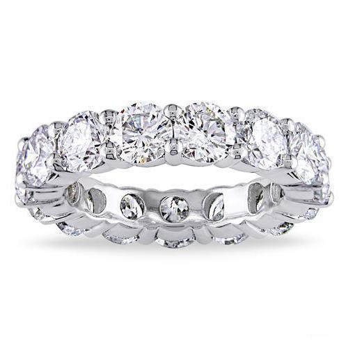Luxury 6 CTTW Sterling Silver CZ Eternity Ring Rings Silver 5 - DailySale