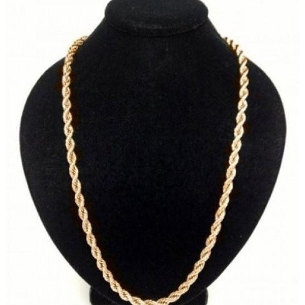 18K Solid Gold Rope Chain - Assorted Sizes - DailySale, Inc