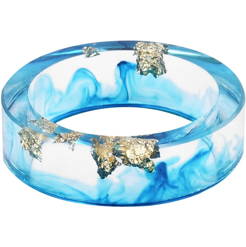 Malibu Blue Tie Dye Glass Unisex Ring Jewelry 6 - DailySale