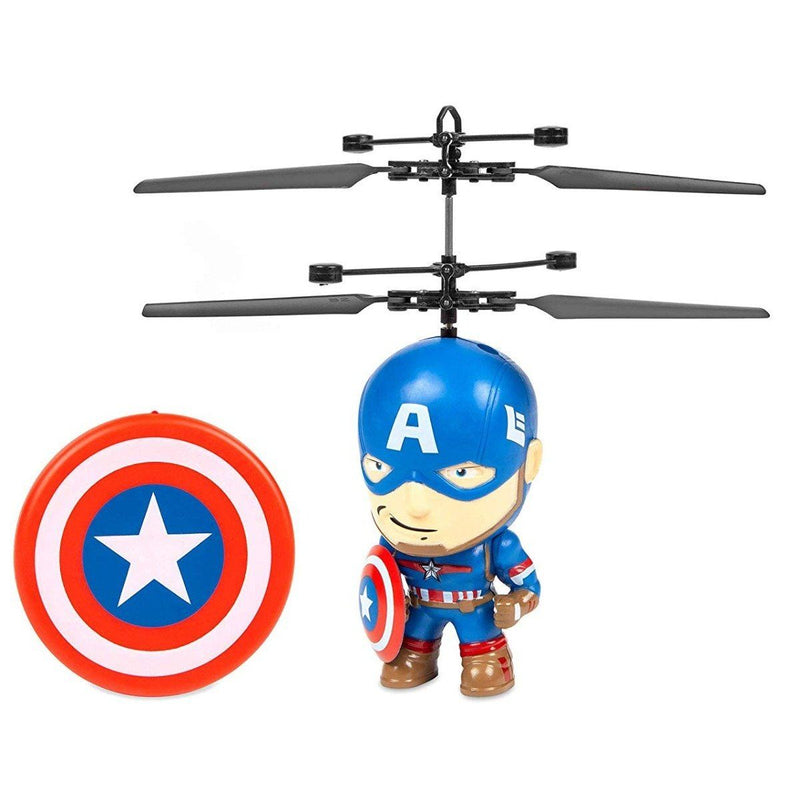Marvel Licensed 3.5 Inch Flying Figure IR UFO Big Head Helicopter Toys & Games Captain America - DailySale