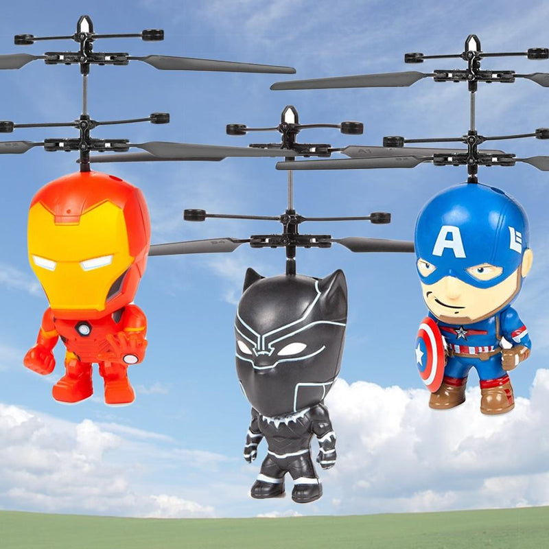 Marvel Licensed 3.5 Inch Flying Figure IR UFO Big Head Helicopter Toys & Games - DailySale