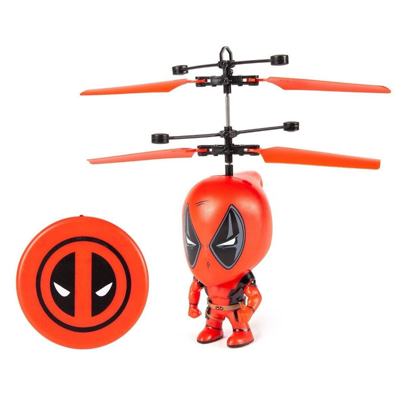 Marvel Licensed 3.5 Inch Flying Figure IR UFO Big Head Helicopter Toys & Games Deadpool - DailySale