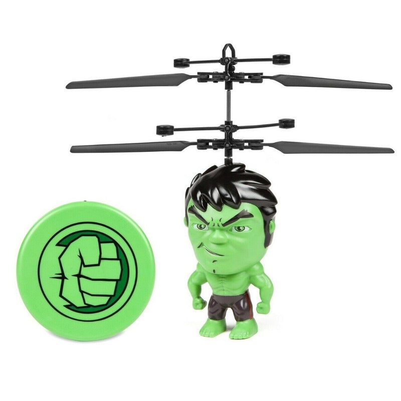Marvel Licensed 3.5 Inch Flying Figure IR UFO Big Head Helicopter Toys & Games Hulk - DailySale