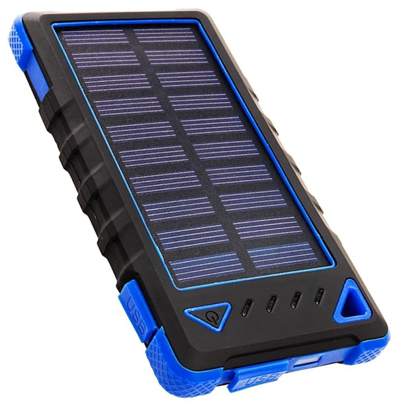 Maze Exclusive 8,000mAh High-Speed 2-Port Solar Power Bank Phones & Accessories Blue - DailySale