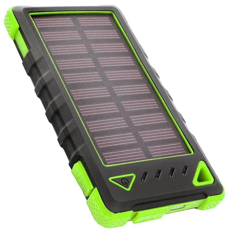 Maze Exclusive 8,000mAh High-Speed 2-Port Solar Power Bank Phones & Accessories Green - DailySale