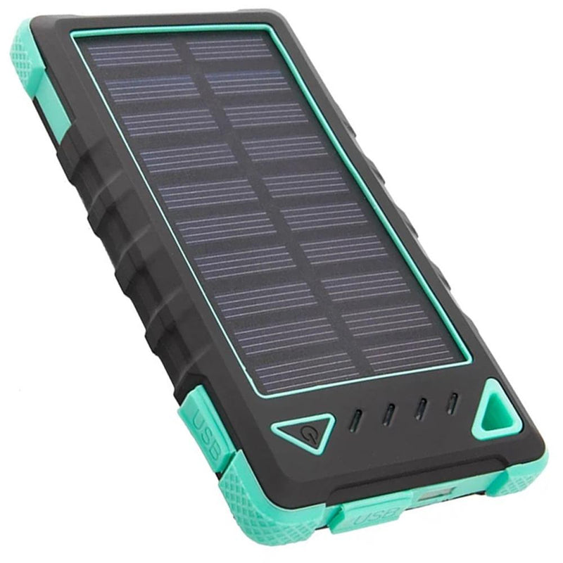 Maze Exclusive 8,000mAh High-Speed 2-Port Solar Power Bank Phones & Accessories Turquoise - DailySale