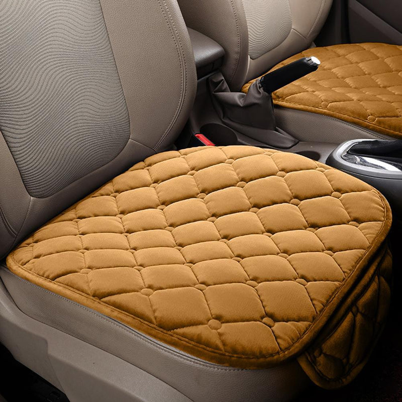 Maze Exclusive Comfortable Velvet Front Seat Car Cushion - Tan Auto Accessories - DailySale