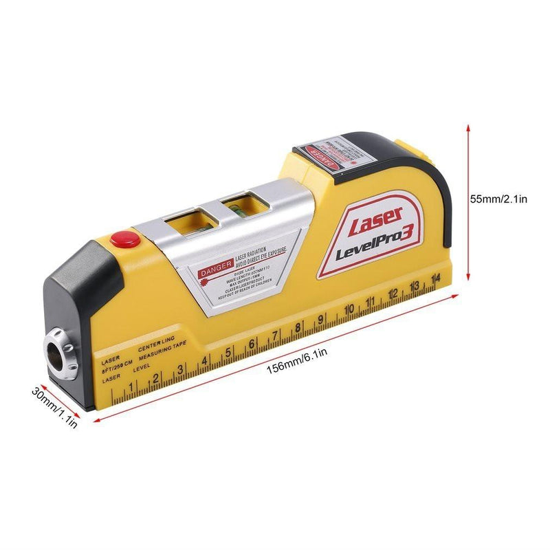 Measuring Tape with Horizontal Laser Line Home Essentials - DailySale