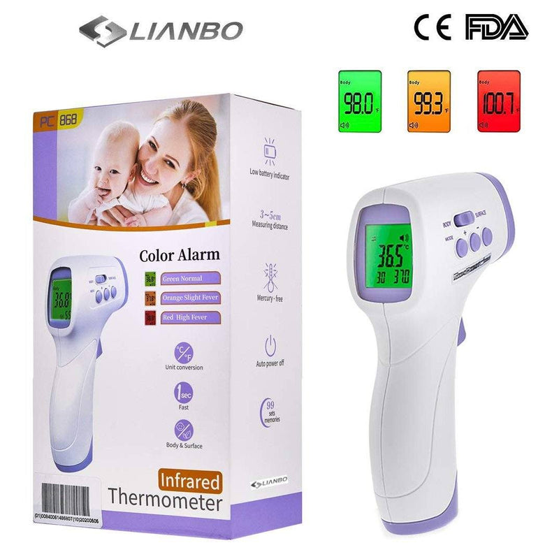 Medical Professional Infrared Thermometer Digital Non-Contact Laser Gun - YNA-800 Wellness & Fitness - DailySale