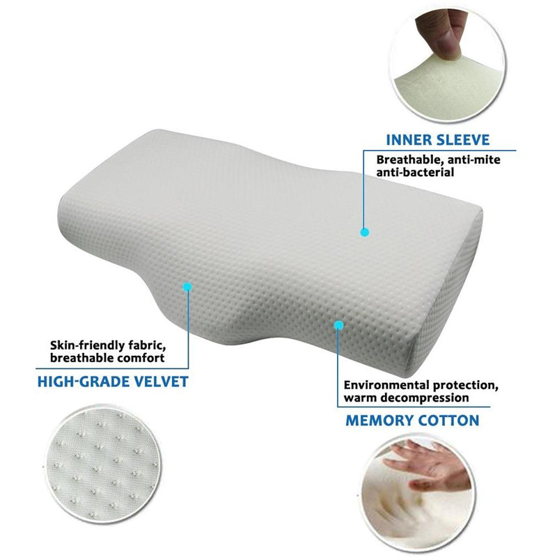 Memory Foam Bed Pillow for Sleeping Linen & Bedding - DailySale