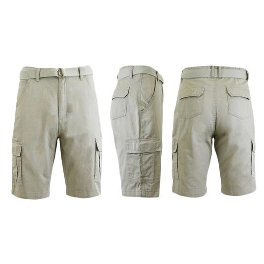Men's 100% Cotton Belted Cargo Shorts - Assorted Colors and Sizes Men's Apparel - DailySale