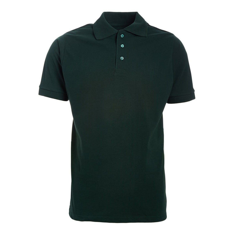 Men's 3-Button Ribbed Short Sleeve Polo Men's Apparel Hunter Small - DailySale