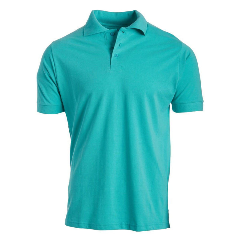 Men's 3-Button Ribbed Short Sleeve Polo Men's Apparel Mint Small - DailySale