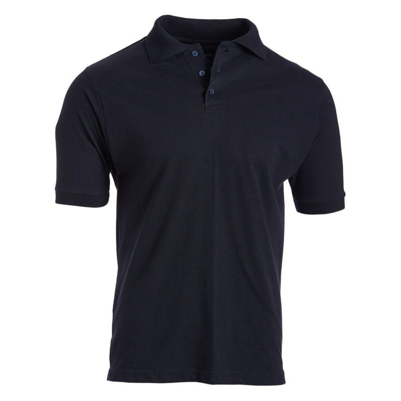 Men's 3-Button Ribbed Short Sleeve Polo Men's Apparel Navy Small - DailySale