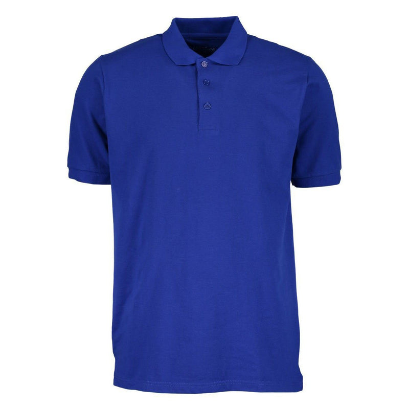 Men's 3-Button Ribbed Short Sleeve Polo Men's Apparel Royal Small - DailySale