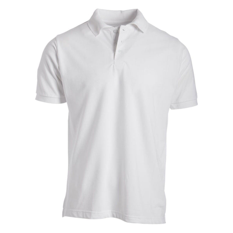 Men's 3-Button Ribbed Short Sleeve Polo Men's Apparel White Small - DailySale