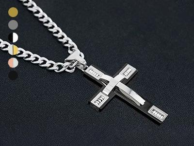 Men's Cross Necklaces in Stainless Steel Men's Apparel - DailySale
