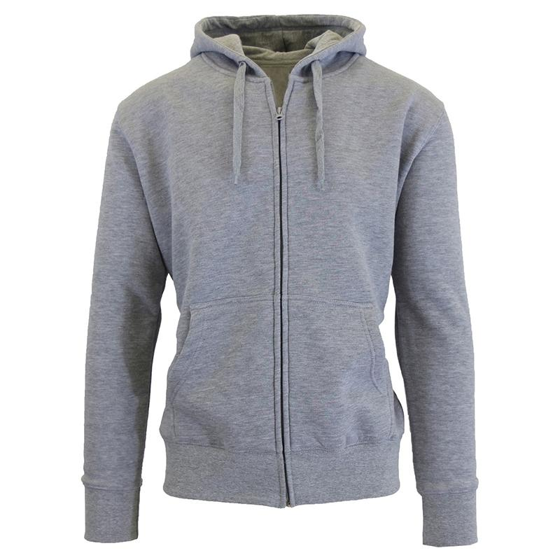 Men's Fleece-Lined Zip Sweater Hoodie Men's Apparel S Heather Gray - DailySale