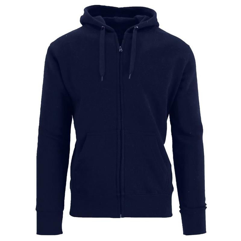 Men's Fleece-Lined Zip Sweater Hoodie Men's Apparel S Navy - DailySale