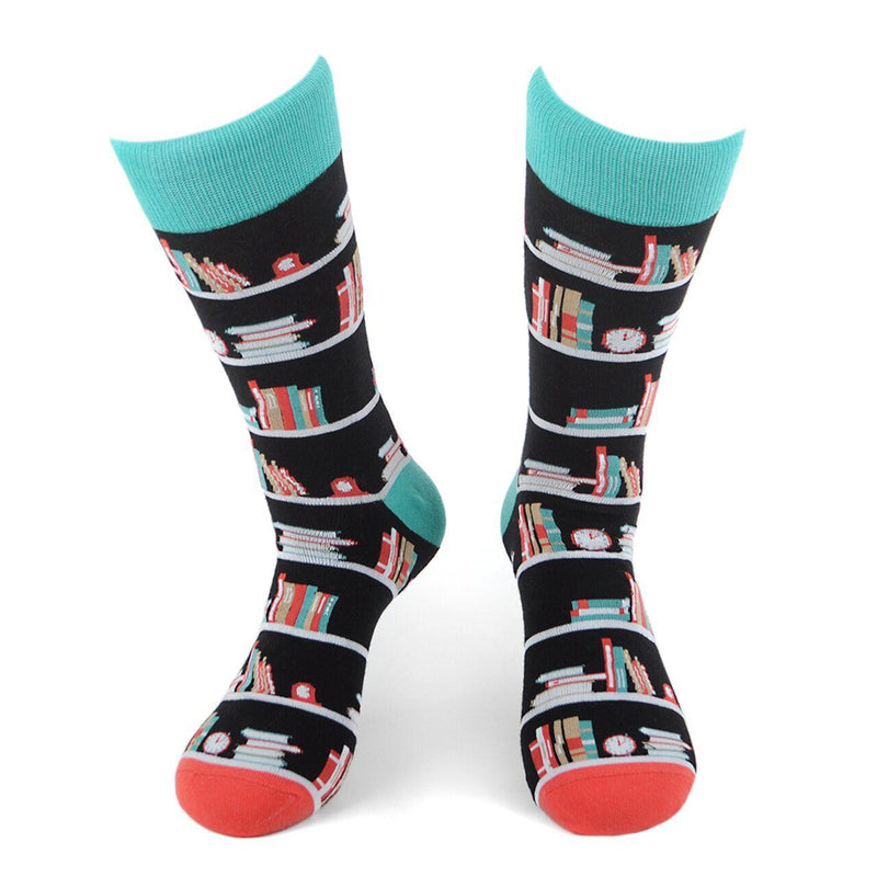 Men's Novelty Socks - Assorted Styles Men's Accessories Bookcase - DailySale