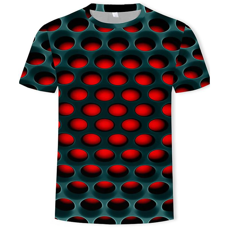 Men's Optical Illusion Plus Size Shirt Men's Clothing S - DailySale