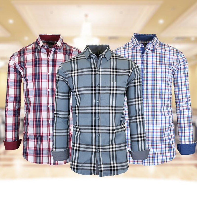 Men's Quick Dry Slim Fit Stretch Dress Shirts Men's Apparel - DailySale